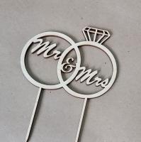 Топпер «Кольца Mr&Mrs»