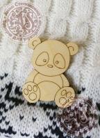 Заготовка «Милый панда» значок