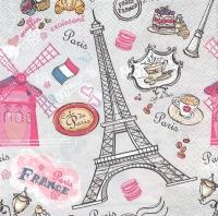 Салфетка «Вкус Парижа» для декупажа