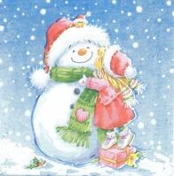 Салфетка «Любимый снеговик» для декупажа
