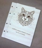 Деревянная обложка «Любить кошку» для блокнота