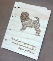 Деревянная обложка «Лучший друг» для блокнота