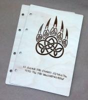 Деревянная обложка «Медвежья лапа» для блокнота