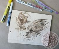 Деревянная обложка «Милашка» для блокнота
