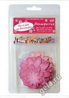 Набор бумажных цветов «Розовый» с брадс
