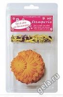 Набор бумажных цветов «Осенний» с брадс