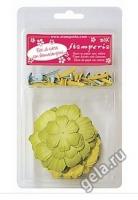 Набор бумажных цветов «Весенний» с брадс