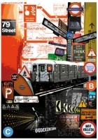 Карта для декупажа «Метро»