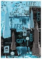 Карта для декупажа «Город»