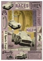Карта для декупажа «Спортивные машины»