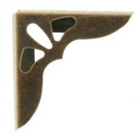 Декоративный уголок бронзовый большой