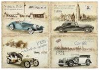 Декупажная карта «Старинные автомобили»