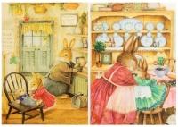 Декупажная карта «Семья кроликов»