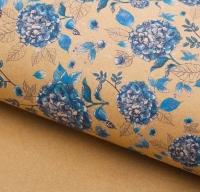 Бумага крафт «Голубая гортензия»