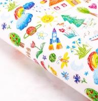 Бумага упаковочная «Детские рисунки»