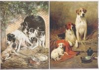Декупажная карта «Собачье семейство»