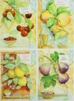 Декупажная карта «Садовые фрукты»