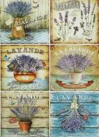 Декупажная карта «Карточки с лавандой»