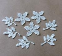 Вязанные цветы для скрапбукинга №3