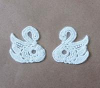 Вязанные Лебеди для скрапбукинга №8