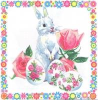 Салфетка для декупажа «Пасхальный кролик»