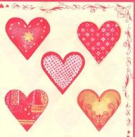 Салфетка для декупажа «Сердечки»