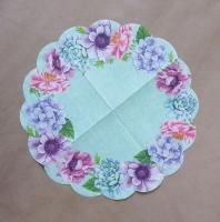 Салфетка круглая «Цветочный венок»