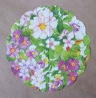 Салфетка круглая «Цветы»