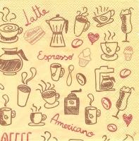 Салфетка для декупажа «Я люблю кофе»