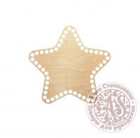 Деревянное донышко «Звезда» для корзины