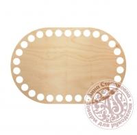 Деревянное донышко «Овал с прямыми боками» 10х15 см