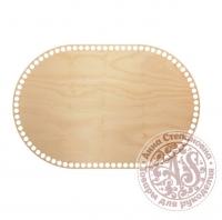 Деревянное донышко «Овал с прямыми боками» 25х37,5 см