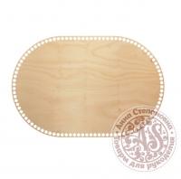 Деревянное донышко «Овал с прямыми боками» 30х45 см