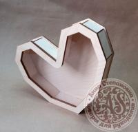 Коробка «Сердце» с прозрачной крышкой малая