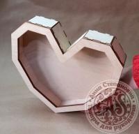 Коробка «Сердце» с прозрачной крышкой средняя