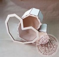 Коробка «Сердце» с прозрачной крышкой большая