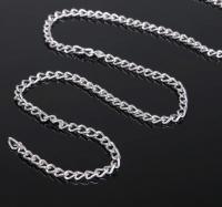 Цепочка без карабина, цвет серебро
