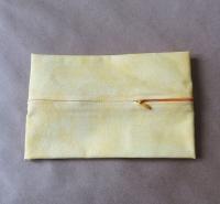 Задник для подушки с молнией, желтый