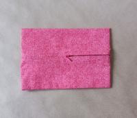 Задник для подушки с молнией, темно-розовый