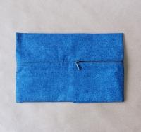 Задник для подушки с молнией, синий