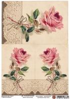 Декупажная карта Очаровательная роза