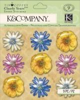 Наклейки эпоксидные Цветы Tim Coffey K&Company