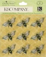 Наклейки эпоксидные Пчёлы Tim Coffey K&Company
