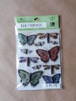 Стикеры Бабочки, пчёлы, стрекозы K&Company