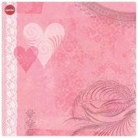 Бумага Сердечки розовые K&Company