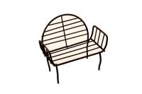 Миниатюра: скамейка с круглой спинкой