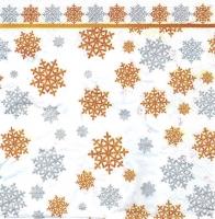 Салфетка для декупажа «Золотые снежинки»