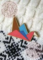 Значок «Журавлик. Оригами».