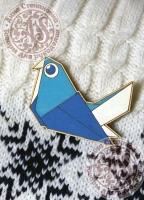Значок «Голубь. Оригами».