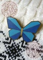 Значок «Бабочка. Оригами».
